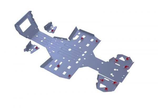 Комплект защит днища для ATV RM 500-2/650-2 купить по цене 15200 руб.