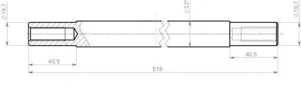 Ось C40200523 купить по цене 614 руб.