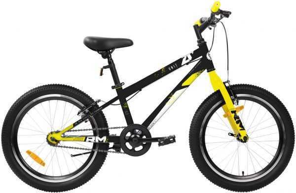 """Велосипед RM UNIT (20"""", 1 ск., рост 10.5"""", черный/желтый) купить по цене 8500 руб."""