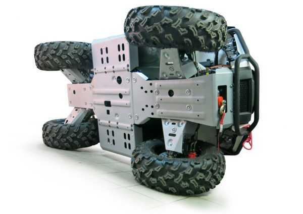 Комплект защит днища для квадроцикла ATV RM 800 (6 частей) купить по цене 17300 руб.