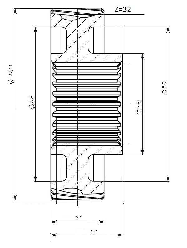 Шестерня C40600087 купить по цене 1221 руб.