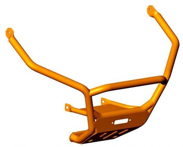 Бампер передний R40100110-01 DUO Оранжевый купить по цене 10214 руб.