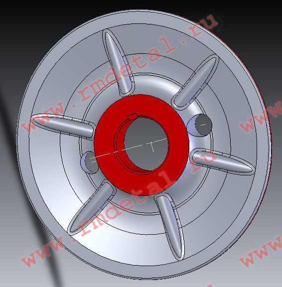 Шкив вентилятора ведомый 110500576 купить по цене 1014 руб.