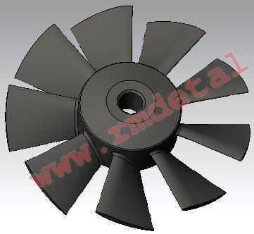 Крыльчатка вентилятора C40500235 купить по цене 2071 руб.