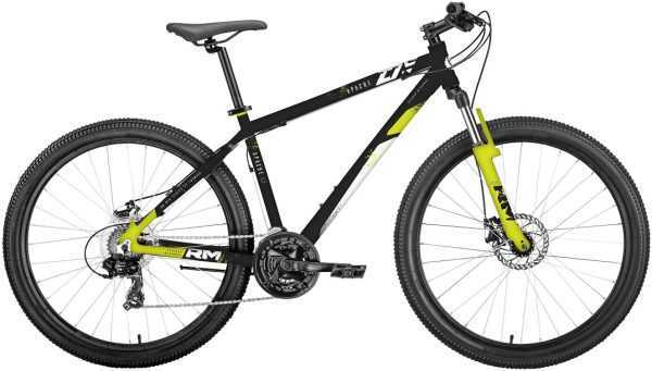 """Велосипед RM APACHE (27.5"""", 21 ск., рост 17"""", черный/зеленый мат.) купить по цене 18500 руб."""