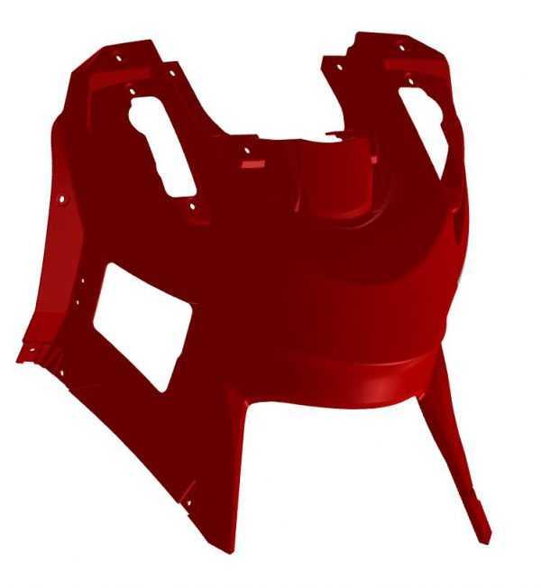 Облицовка верхняя R10700054-02 с лючком красный купить по цене 2758 руб.