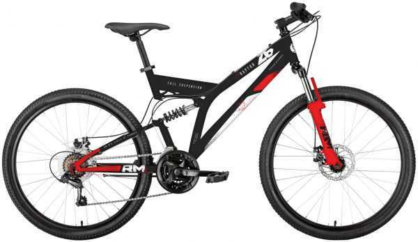 """Велосипед RM RAPTOR (26"""", 21 ск., рост 18"""", черный/красный) купить по цене 17000 руб."""
