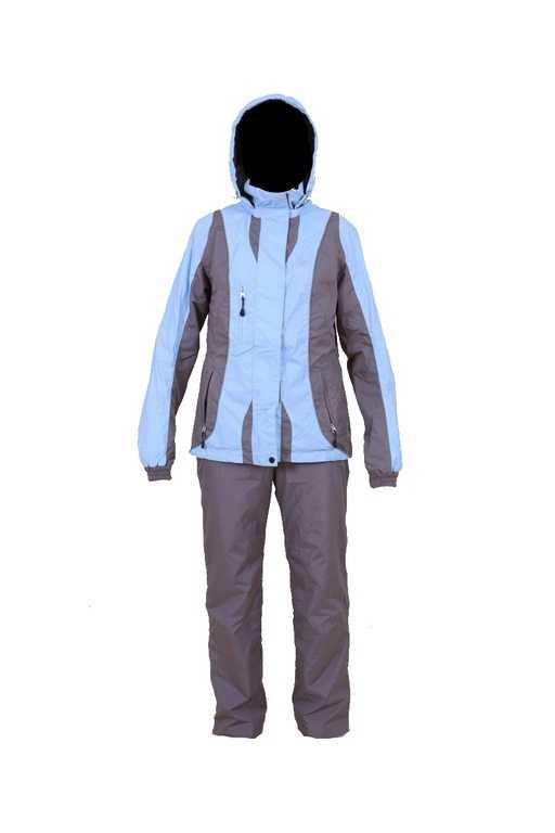 Костюм женский 852М2-12 голубой-серый купить по цене 6642 руб.