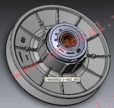 Шкив вариатора ведомый C40601500 купить по цене 10625 руб.